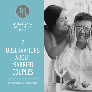 7 Observations about Married Couples